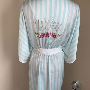 Betray Johnson baby blue WIFEY robe